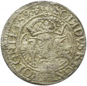 Zygmunt III Waza, szeląg, 1593, Olkusz, dzban, bardzo rzadki R7!