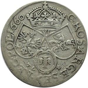 Jan II Kazimierz, szóstak 1660 TLB, Kraków, brak obwódek