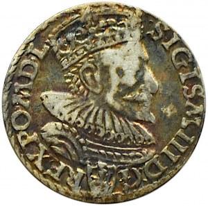Zygmunt III Waza, trojak 1594, Malbork, przerwany pierścień (R1)