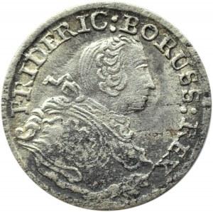 Niemcy, Prusy, Fryderyk, 3 grosze 1753 B, Wrocław