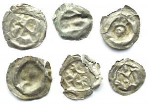 Brakteaty, lot 6 sztuk, II połowa XII wieku (1)