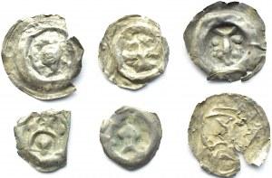 Brakteaty, lot 6 sztuk, II połowa XII wieku (3)
