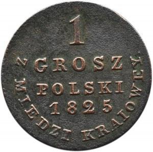 Aleksander I, 1 grosz 1825 I.B. z miedzi krajowej, Warszawa