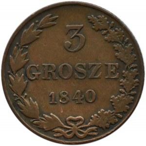 Mikołaj I, 3 grosze 1840 MW, Warszawa