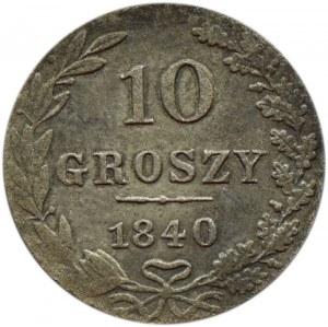 Mikołaj I, 10 groszy 1840 MW, Warszawa