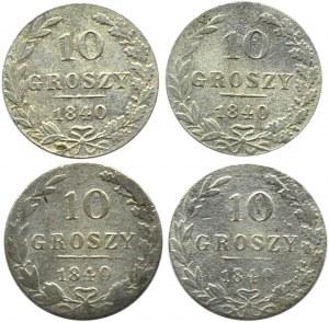 Mikołaj I, lot 10 groszy 1840 MW, Warszawa