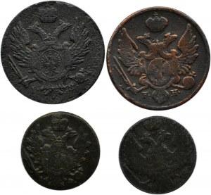 Mikołaj I, lot 1 i 3 grosze 1817-1839 F.H., Warszawa
