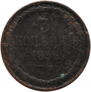 Mikołaj I, 3 kopiejki 1856 B.M., Warszawa
