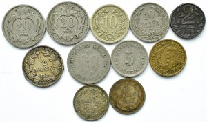 Niemcy/Austria/Rosja, XIX-XX wiek, lot drobnych 11 monet
