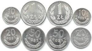 Polska, PRL, lot 8 menniczych monet (1), Warszawa