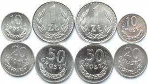 Polska, PRL, lot 8 menniczych monet (2), Warszawa