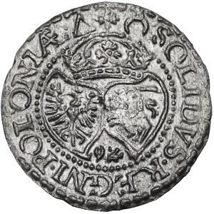 Zygmunt III Waza, szeląg 1592, Malbork, NIENOTOWANY