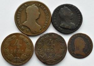 Austria, Maria Teresa, Józef II, lot monet kreuzer 1763-1861, Wiedeń, Smolnik, Kremnica