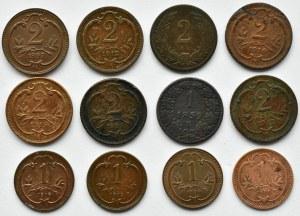 Austro-Węgry, Franciszek Józef I, lot miedzianych monet