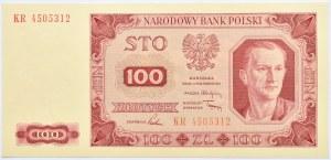 Polska, RP, 100 złotych 1948, seria KR, UNC
