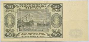 Polska, RP, 50 złotych 1948, seria EE, Warszawa