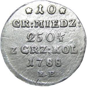 Stanisław A. Poniatowski, 10 groszy miedzianych 1788 E.B., Warszawa