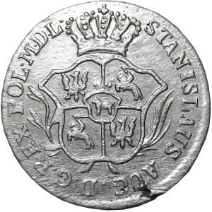 Stanisław A. Poniatowski, 2 grosze srebrne (półzłotek) 1786 E.B., Warszawa