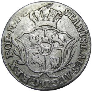 Stanisław A. Poniatowski, 2 grosze srebrne (półzłotek) 1775 E.B., Warszawa