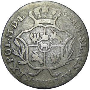 Stanisław A. Poniatowski, 2 grosze srebrne (półzłotek) 1773 A.P., Warszawa