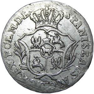 Stanisław A. Poniatowski, 2 grosze srebrne (półzłotek) 1772 A.P., Warszawa
