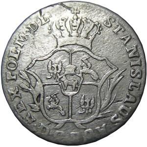 Stanisław A. Poniatowski, 2 grosze srebrne (półzłotek) 1771 F.S., Warszawa