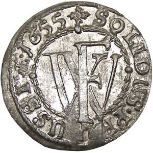 Prusy/Rzeczpospolita, Fryderyk Wilhelm, szeląg 1655, Królewiec, UNC