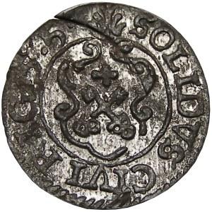 Okupacja Szwedzka, Karol Gustaw, szeląg 1655, Ryga