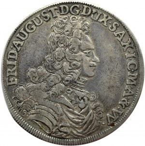 August II Mocny, 2/3 talara (gulden) 1696 IK, Drezno