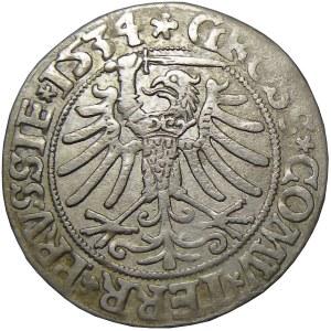 Zygmunt I Stary, grosz 1534, Toruń, PRVSS/PRVSSIE