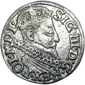 Zygmunt III Waza, trojak 1622, Kraków, piękny