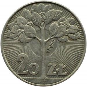 Polska, PRL, 20 złotych 1973, Drzewo, próba, Warszawa