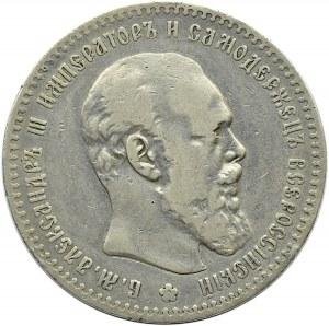Rosja, Aleksander III, rubel 1892 AG, Petersburg