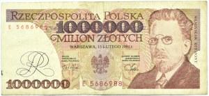 Polska, RP, 1 000000 złotych 1991, seria E, Warszawa