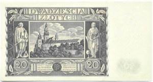 Polska, II RP, 20 złotych 1936, seria CZ, piękne