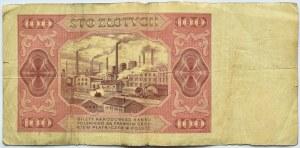 Polska, RP, 100 złotych 1948, seria AP