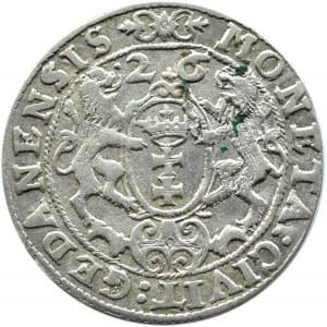 Zygmunt III Waza, ort 1626, Gdańsk, z przebiciem daty