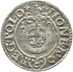 Zygmunt III Waza, półtorak 1619, herb Sas, Bydgoszcz
