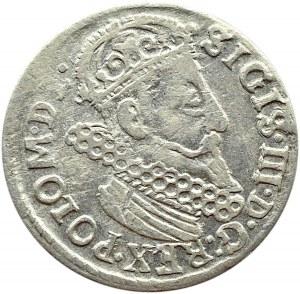 Zygmunt III Waza, trojak 1623, Kraków, mała trójka w dacie i POLO