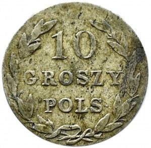 Mikołaj I, 10 groszy 1828 I.B., Warszawa, rzadszy rocznik