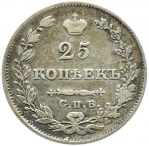 Rosja, Mikołaj I, 25 kopiejek 1829 HG, Petersburg