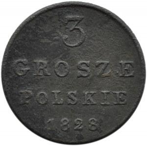 Mikołaj I, 3 grosze 1828 F.H., Warszawa