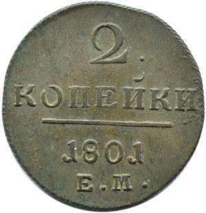 Rosja, Paweł I, 2 kopiejki 1801 E.M., Jekaterinburg
