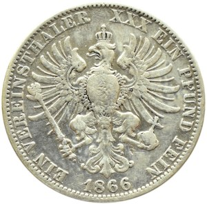 Niemcy, Prusy, Wilhelm I, talar 1866 A, Berlin