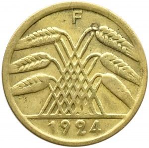 Niemcy, Republika Weimarska, 50 rentenpfennig 1924 F, Stuttgart