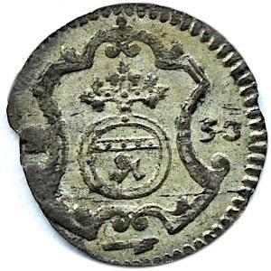 August III Sas, halerz 1753, Drezno, ładny