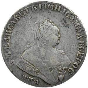 Rosja, Elżbieta, 1 rubel 1751 MMD, Moskwa