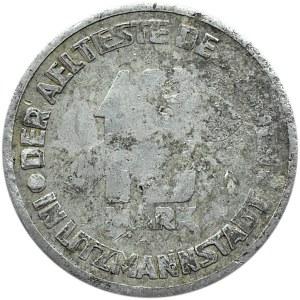 Getto Łódź, 10 marek 1943, aluminium odmiana z kropką