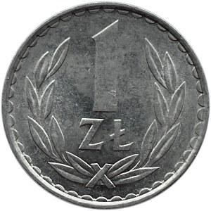 Polska, PRL, 1 złoty 1982, wąska data, Warszawa, rzadka odmiana