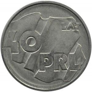 Polska, PRL, 100 złotych 1984, 40 lat PRL, zapchany stempel